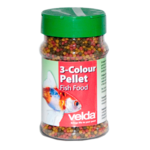 VELDA 3-Colour Pellet 330 ml nourriture en granulés avec Spiruline pour petits poissons de bassin et jeunes carpes Koi