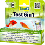TETRA Pond QuickTest 6 en 1 kit de tests en bandelette pour l'analyse simple et rapide de l'eau de votre bassin