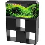 ZOLUX Iseo 100 LED Noir aquarium équipé 106L, longueur 101 cm, avec ou sans meuble