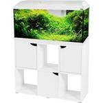 ZOLUX Iseo 100 LED Blanc aquarium équipé 106L, longueur 101 cm, avec ou sans meuble