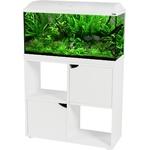 ZOLUX Iseo 80 LED Blanc aquarium équipé 84L, longueur 81 cm, avec ou sans meuble