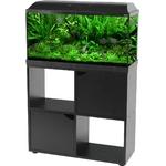 ZOLUX Iseo 80 LED Noir aquarium équipé 84L, longueur 81 cm, avec ou sans meuble