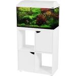 ZOLUX Iseo 60 Blanc aquarium équipé 57L, longueur 61 cm, avec ou sans meuble