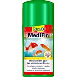 TETRA Pond MediFin 500 ml médicament multi-maladies pour poissons de bassin. Traite jusqu' à 10000 L