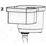 AQUA MEDIC Récipient d'écume pour EVO 1000 (Réf : 410.010-10)