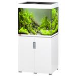 EHEIM Incpiria 200 LED Blanc Brillant kit aquarium 70 cm 200 L avec meuble et éclairage LEDs