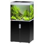 EHEIM Incpiria 200 LED Noir Brillant / Argent kit aquarium 70 cm 200 L avec meuble et éclairage LEDs