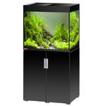 EHEIM Incpiria 200 LED Noir Brillant kit aquarium 70 cm 200 L avec meuble et éclairage LEDs