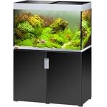 EHEIM Incpiria 300 Noir Brillant / Argent kit aquarium 100 cm 300 L avec meuble et éclairage T5