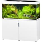 EHEIM Incpiria 400 Blanc Brillant kit aquarium 130 cm 400 L avec meuble et éclairage T5