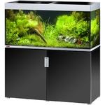 EHEIM Incpiria 400 Noir Brillant / Argent kit aquarium 130 cm 400 L avec meuble et éclairage T5