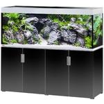 EHEIM Incpiria 500 Noir Brillant / Argent kit aquarium 160 cm 500 L avec meuble et éclairage T5