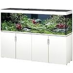 EHEIM Incpiria 600 LED Blanc Brillant kit aquarium 200 cm 600 L avec meuble et éclairage LEDs