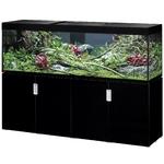 EHEIM Incpiria 600 LED Noir Brillant kit aquarium 200 cm 600 L avec meuble et éclairage LEDs