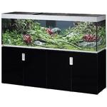 EHEIM Incpiria 600 LED Noir Brillant / Argent kit aquarium 200 cm 600 L avec meuble et éclairage LEDs