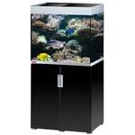 EHEIM Incpiria Marine 200 LED Noir Brillant / Argent kit aquarium 70 cm 200 L avec meuble et éclairage LEDs
