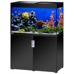 EHEIM Incpiria Marine 300 Noir Brillant kit aquarium 100 cm 300 L avec meuble et éclairage T5