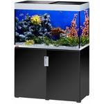 EHEIM Incpiria Marine 300 Noir Brillant / Argent kit aquarium 100 cm 300 L avec meuble et éclairage T5