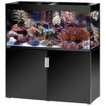 EHEIM Incpiria Marine 400 Noir Brillant kit aquarium 130 cm 400 L avec meuble et éclairage T5
