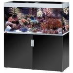 EHEIM Incpiria Marine 400 Noir Brillant / Argent kit aquarium 130 cm 400 L avec meuble et éclairage T5