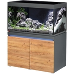 EHEIM Incpiria 330 LED Graphite / Nature kit aquarium 100 cm 330 L avec meuble et éclairage LEDs