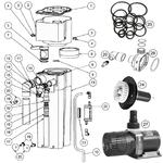Pièces détachées pour écumeur AQUA MEDIC EVO 3000 - 13 Références disponibles
