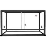 REPTILES PLANET Terrarium Aluminium Elégance 100 x 45 x 50 cm Noir