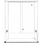 REPTILES PLANET Terrarium Aluminium Elégance 62,5 x 45 x 90 cm Blanc