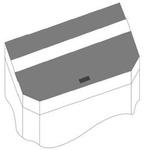 JUWEL Kit de volets de remplacement pour Aquarium Juwel Panorama 100. Livré en 2 pièces