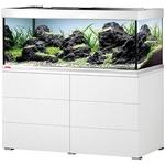 EHEIM Proxima 325 L powerLED+ Blanc Brillant aquarium 130 cm avec meuble et éclairage LEDs 74W