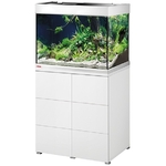 EHEIM Proxima 175 L powerLED+ Blanc Brillant aquarium 70 cm avec meuble et éclairage LEDs 37W