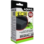 AQUAEL Média Set pour filtre UniFilter UV 500 lot de 3 cartouches de mousse