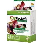 DENNERLE E15 FerActiv 20 comprimés source de Fer blanc concentré pour plantes d'aquariums. Traite jusqu'à 2000 L