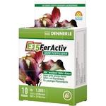 DENNERLE E15 FerActiv 10 comprimés source de Fer blanc concentré pour plantes d'aquariums. Traite jusqu'à 1000 L