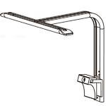 AQUAVIE GrassyCore SeaLight Single Arm support de fixation pour une rampe