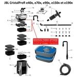JBL Pièces détachées pour filtre externe JBL CristalProfi e700, e900, e1500, e401, e701, e901, e1501, e1901, e402, e702, e902, e1502, e1902