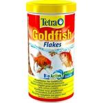 TETRA GoldFish 1L aliment complet en flocons de grande qualité pour tous les poissons rouges et d'eau froide