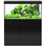 AQUATLANTIS Élégance Expert LED 120 Noir aquarium équipé 293 L dimensions 121 x 40,4 x 60 cm avec meuble