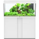 AQUATLANTIS Élégance Expert LED 120 Blanc aquarium équipé 293 L dimensions 121 x 40,4 x 60 cm avec meuble