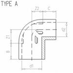 vdl-coude-a-90-en-pvc-double-diamètre-dimensions-cotes