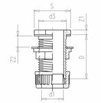 vdl-passe-paroi-pvc-avec-ecrou-de-serrage-pour-tube-dimensions-cotes