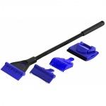 JBJ  Aqua Scraper 32cm kit de nettoyage 4 en 1 : 1 grattoir plastique, 1 grattoir à lame acier, une éponge, une pelle à gravier