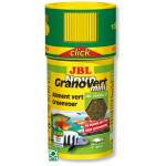 JBL NovoGranoVert mini Click 100 ml granulés pour petits poissons d'aquarium herbivores avec doseur