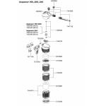 EHEIM Pièces détachées pour filtre Eheim Biopower 160 (2411), 200 (2412) et 240 (2413)