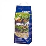 HOBBY Aqualit 12 litres substrat décoratif et nutritif sans calcaire avec oligo-éléments