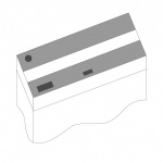 JUWEL Kit de volets de remplacement pour Aquarium Juwel Rio 240. Livré en 2 pièces