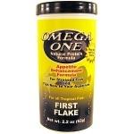 OMEGA ONE First Flake 62 gr. nourriture en flocons idéale pendant l'acclimation des poissons d'eau douce et marins