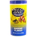OMEGA ONE Marine Flakes 62 gr. nourriture en flocons à base de fruits de mer et spiruline pour poissons marins