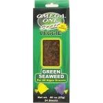 OMEGA ONE Seaweed Green 23 gr. nourriture sous forme de feuilles (x24) pour poissons d'eau douce et marins herbivores