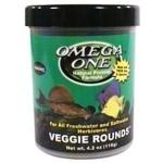 OMEGA ONE Veggie Rounds 117 gr. nourriture en tablette à base de Varech pour poissons d'eau douce et d'eau de mer herbivores